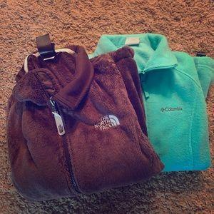 NorthFace and Columbia Fezzy jacket
